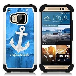 For HTC ONE M9 - blue anchor sea sailor boat ship Dual Layer caso de Shell HUELGA Impacto pata de cabra con im??genes gr??ficas Steam - Funny Shop -