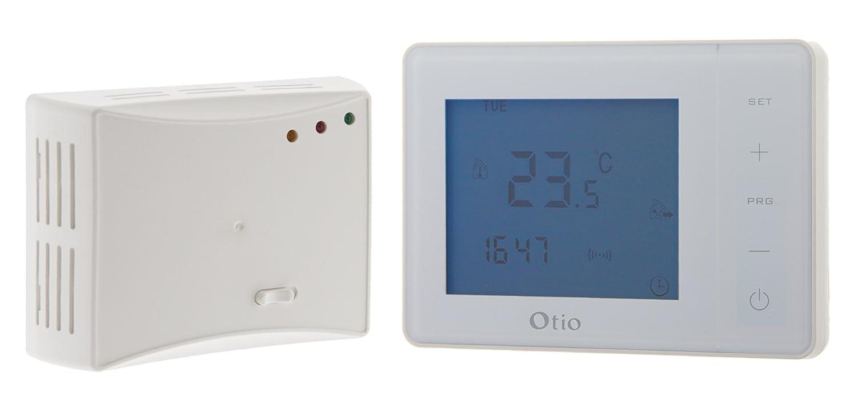 Otio -Termostato programable inalámbrico, blanco: Amazon.es: Bricolaje y herramientas