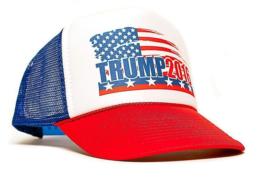 Amazon.com  Trump 2016 President Campaign Trucker Unisex Adult-one size Hat  Cap Multi  Clothing dfa10cac473