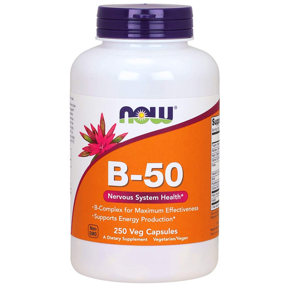 Now Supplements, Vitamin B-50 mg, 250 Veg Capsules by NOW Foods
