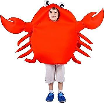 SEA HARE Disfraz de Disfraz de Animal Cangrejo Rojo para niños ...