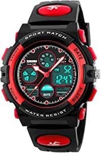 CakCity Waterproof Swimming Sports Watch Boys Girls Led Digital Watches for Kids Rubber strap