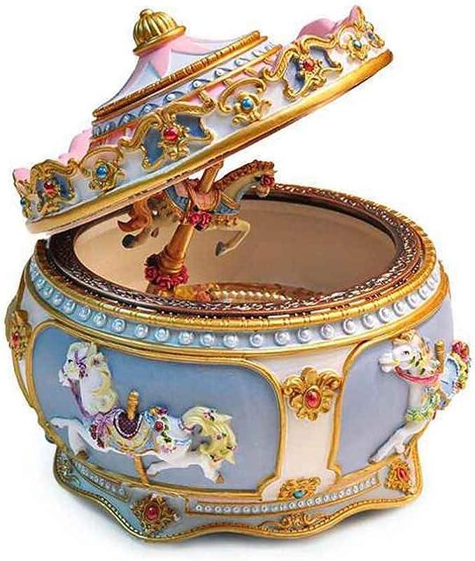 Arbre Caja Musical Vintage Caja de música con carrusel Iluminado, diseño de Corte Europeo, Accesorios creativos para el Regalo de cumpleaños para el hogar: Amazon.es: Hogar