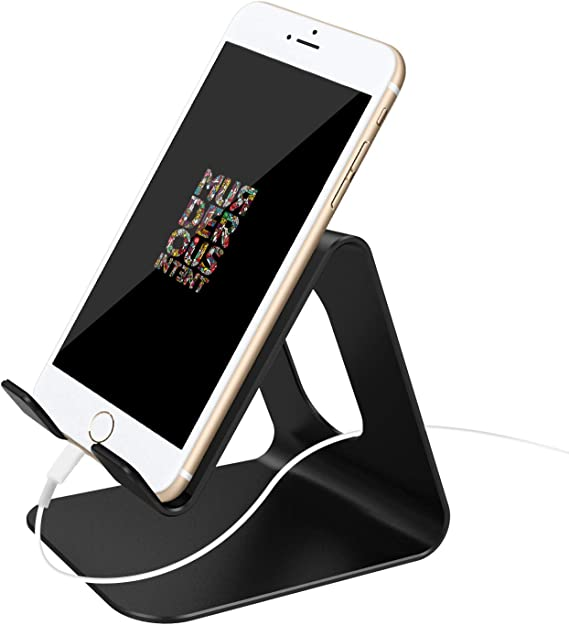 Cell Phone Desk Stand Holder Gold ToBeoneer Aluminum Desktop Solid Portable Universal Desk Stand for All Mobile Smart Phone Tablet Display Huawei iPhone 7 6 Plus 5 Ipad 2 3 4 Ipad Mini Samsung