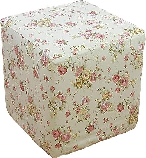 Amazon Com Plafueto Canvas Ottoman Cover Square Ottoman Slipcover Cotton Footstool Protector Storage Ottoman Covers Furniture Protector Home Decor Beige 17 7 X17 7 Home Kitchen