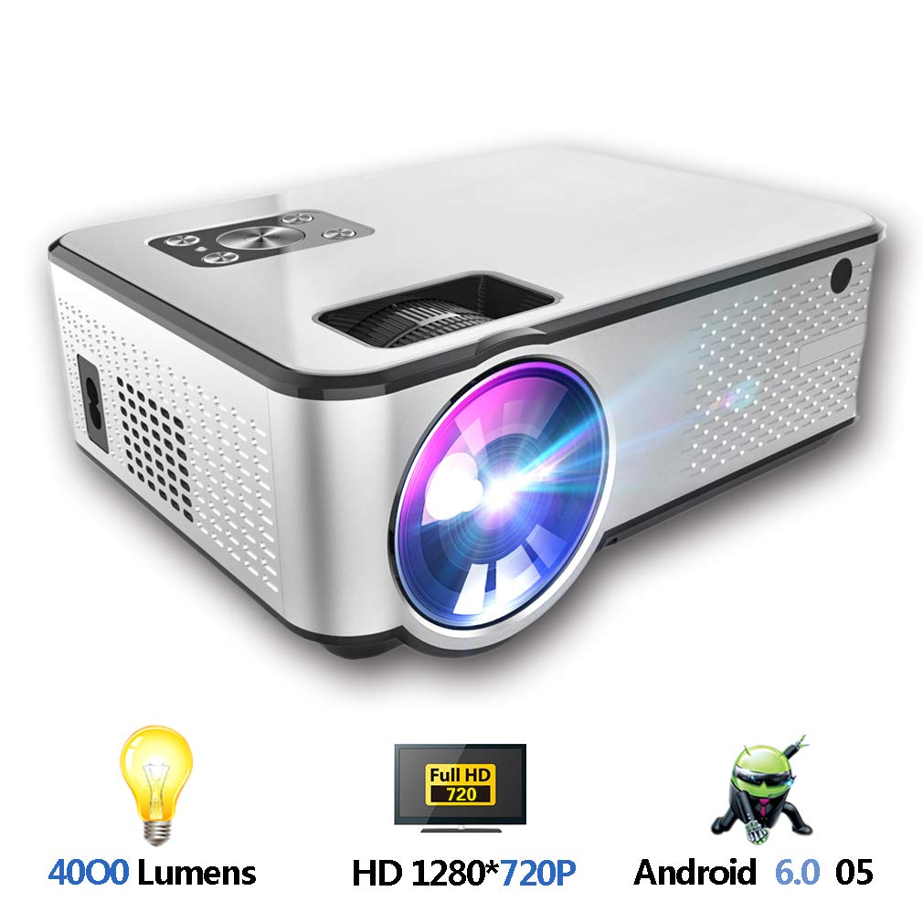 HWUKONG Mini proyector, corrección de la distorsión Trapezoidal de ...