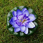 VORCOOL-5Pcs-Artificial-Floating-Water-Lily-Lotus-Flower-Pond-Decor-10cm-RedYellowBluePinkLight-Pink