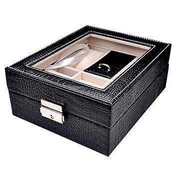 BCX la Caja de joyería Caja de Almacenamiento Adornos de Mano Cajas de Joyas Negro Maquillaje Almacenamiento: Amazon.es: Deportes y aire libre