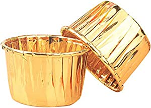 100 Pcs Paper Cupcake Liners Baking Cups, Holiday/Parties/wedding/Anniversary(Gold)