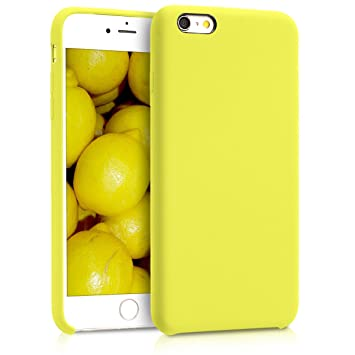 kwmobile Funda compatible con Apple iPhone 6 Plus / 6S Plus - Carcasa de [TPU] para móvil - Cover [trasero] en [amarillo neón]