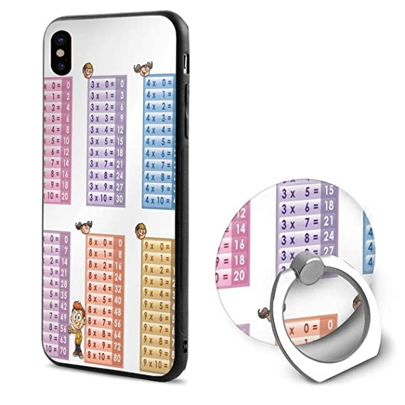 Amazon com: Phone X Case Multiplication Table PDF Printable Ring