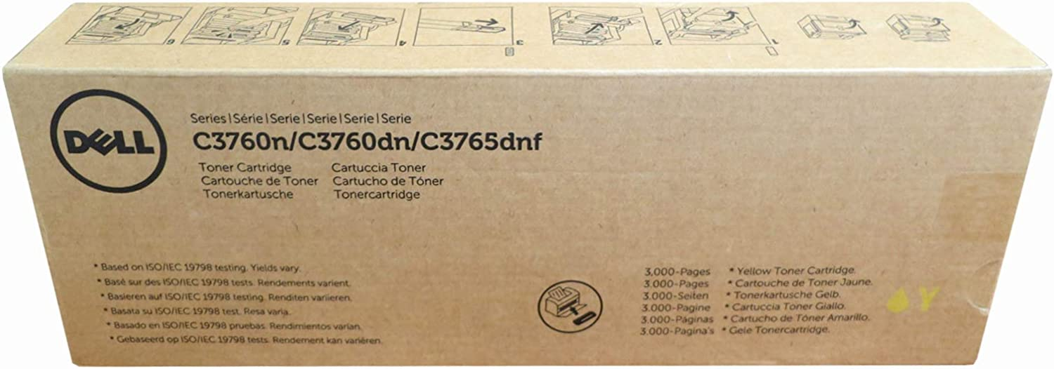 Dell V0PNK Toner Cartridge C3760N/C3760DN/C3765DNF Color Laser Printer