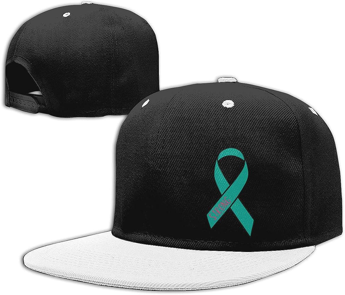 Men and Women Hiphop Cap Ovarian Cancer Strong Classic Flat Bill Baseball Caps