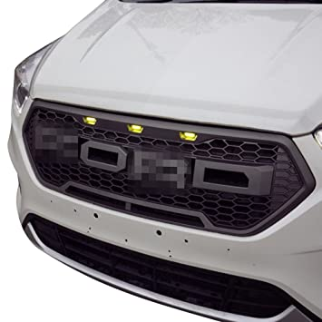 61cmq8VIo3L._SY355_ amazon com v8 god raptor style upper replacement grille w led  at gsmx.co