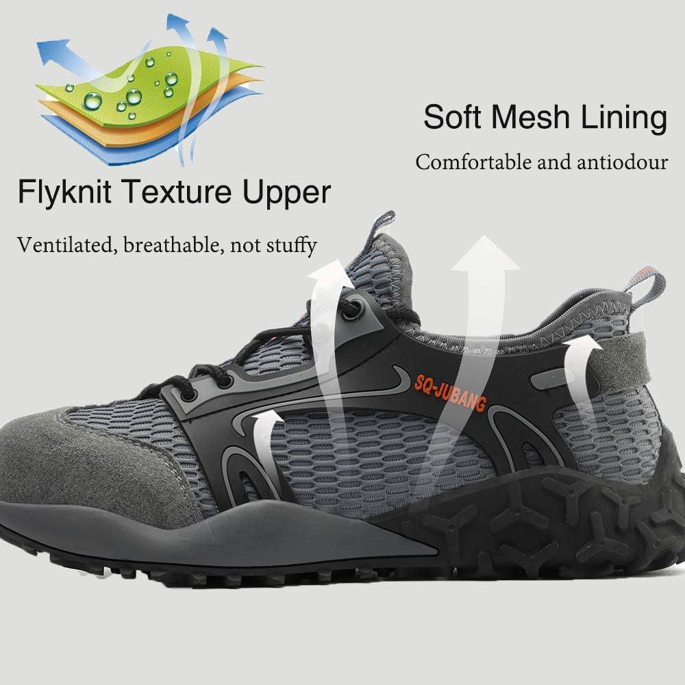 Scarpe da Lavoro da Uomo Antinfortunistiche per Unomo Donna Scarpe Punta in Acciaio Scarpe Sportive di Sicurezza 42