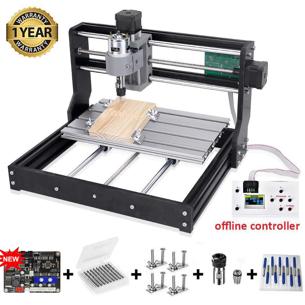 CNC 3018 Pro, with 5.5W Laser Module CNC 3018 Pro with 5.5W lasermodule CNC Engraving Machine CNC Carving Machine PCB Wood Router Milling Machine CNC3018PRO Engraver
