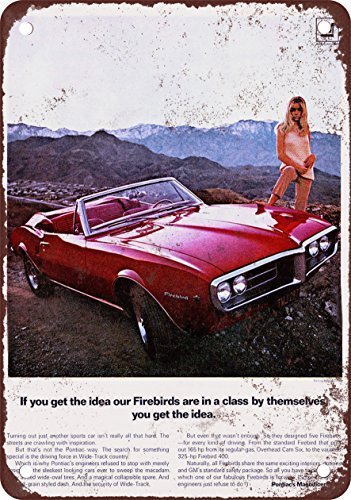 1967 Pontiac Firebird Convertible Vintage Look Reproduction Metal Tin Sign 12X18 Inches