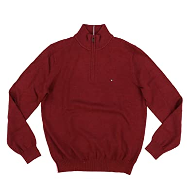 f6cf51dc23a Tommy Hilfiger Mens 1 4 Zip Mock Neck Sweater at Amazon Men s Clothing  store
