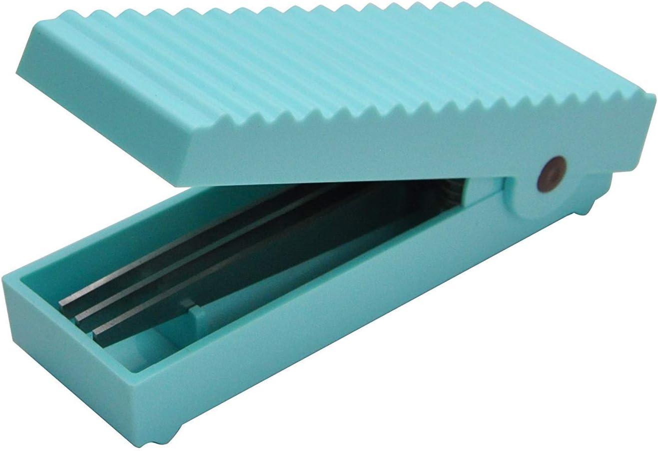 HARAC Handy Paper Shredder Fringe Scissors Manual Safe Document Chipper for Office and Household Use (Blue)