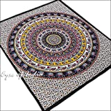Eyes of India Large Queen Black Elephant Mandala Bedspread Indian Tapestry Bohemian Beach Dorm Boho