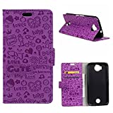 "HYAIT Acer Jade Prime Case,Flip Leather Wallet Card Slot Bookstyle Folio Magnetic Closure Kickstand Case Cover For Acer Liquid Jade Primo (5.5"")Purple"