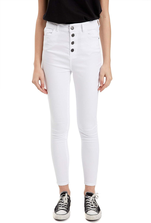 DeFacto Woman Woven Bottom Trousers Pants- White