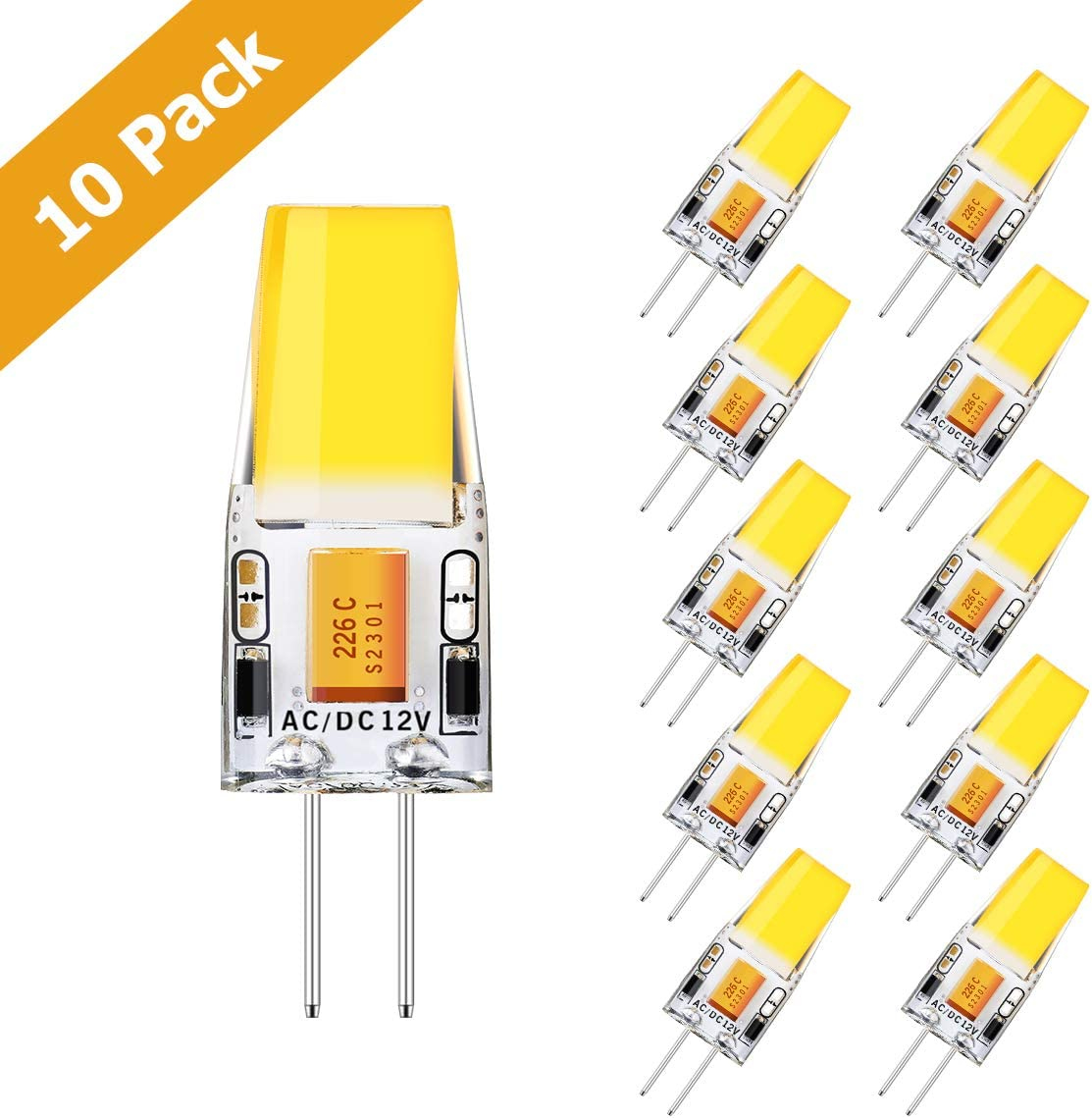 Kingso 10 Pack G4 Led Bulbs 350lm 3 5w Replaces 35w Halogen Bulbs