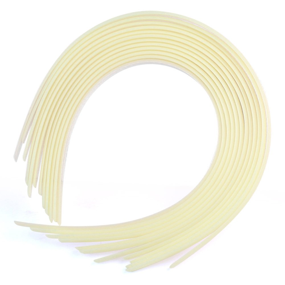 Plastic headbands for crafts - Rhx 12pcs White Plain Women Plastic Hair Band Headbands For Crafts Fashion 10mm Wide