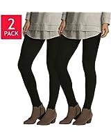 Felina™ Ladies' Lightweight Legging 2-pack Black
