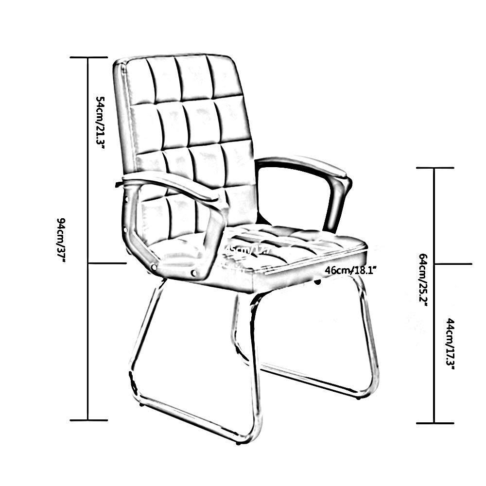 JIEER-C stol dator stol läder skrivbord spelstol rosett fot ergonomisk högt ryggstöd kontor dator stol PU läder säte kontor skrivbordsstol för kontor mötesrum, rosa Svart