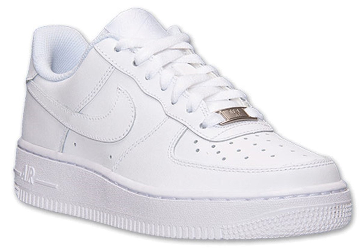 Nike Air Force 1 Low GS All White Youth Lifestyle Sneakers New All White - 4