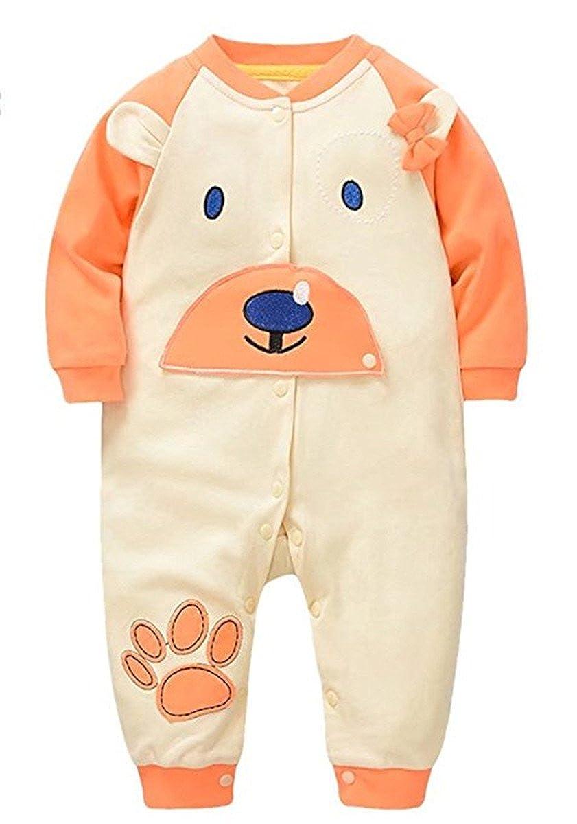 Baby Toddler Boys Girls One-Piece Cartoon Bear Ears Romper Jumpsuit Overalls
