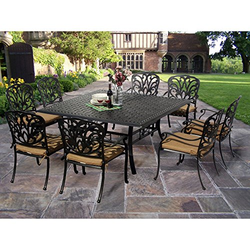Oakland Living Hampton 60 in. Square Patio Dining Set