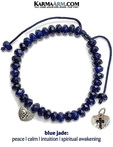 9015f75005c25 Amazon.com  KarmaArm Heart Charm Bracelet
