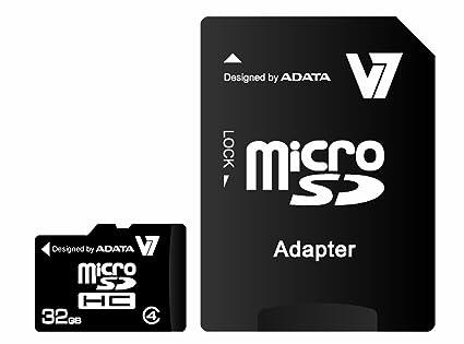 V7 VAMSDH32GCL4R-1E - Tarjeta de Memoria Micro SD, 32 GB