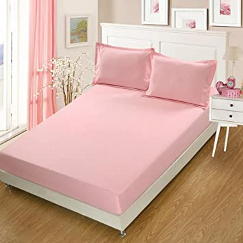 Wmshpeds Cama de Color sólido de un Solo Dormitorio de Estudiantes cubrecamas Non - colchón de Patinaje Cubierta Protectora: Amazon.es: Hogar