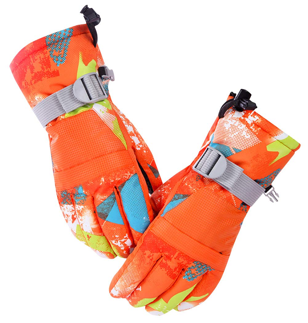 Ski Gloves, Cold Weather Waterproof Glove Magic Stretch Winter Warm Snow Gloves for Mens, Womens, Boys, Girls by AIEOE (Image #1)