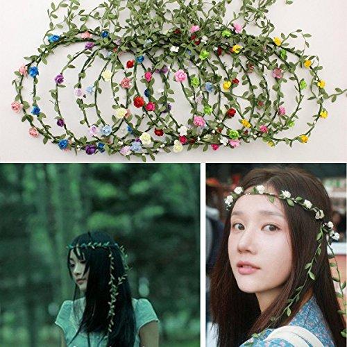 Bridal jewelry 14 flower garlands Mori girl jewelry wedding and children photography in scenic performances items flower headdress , (Toddler Mossy Oak Flower Girl Dress)