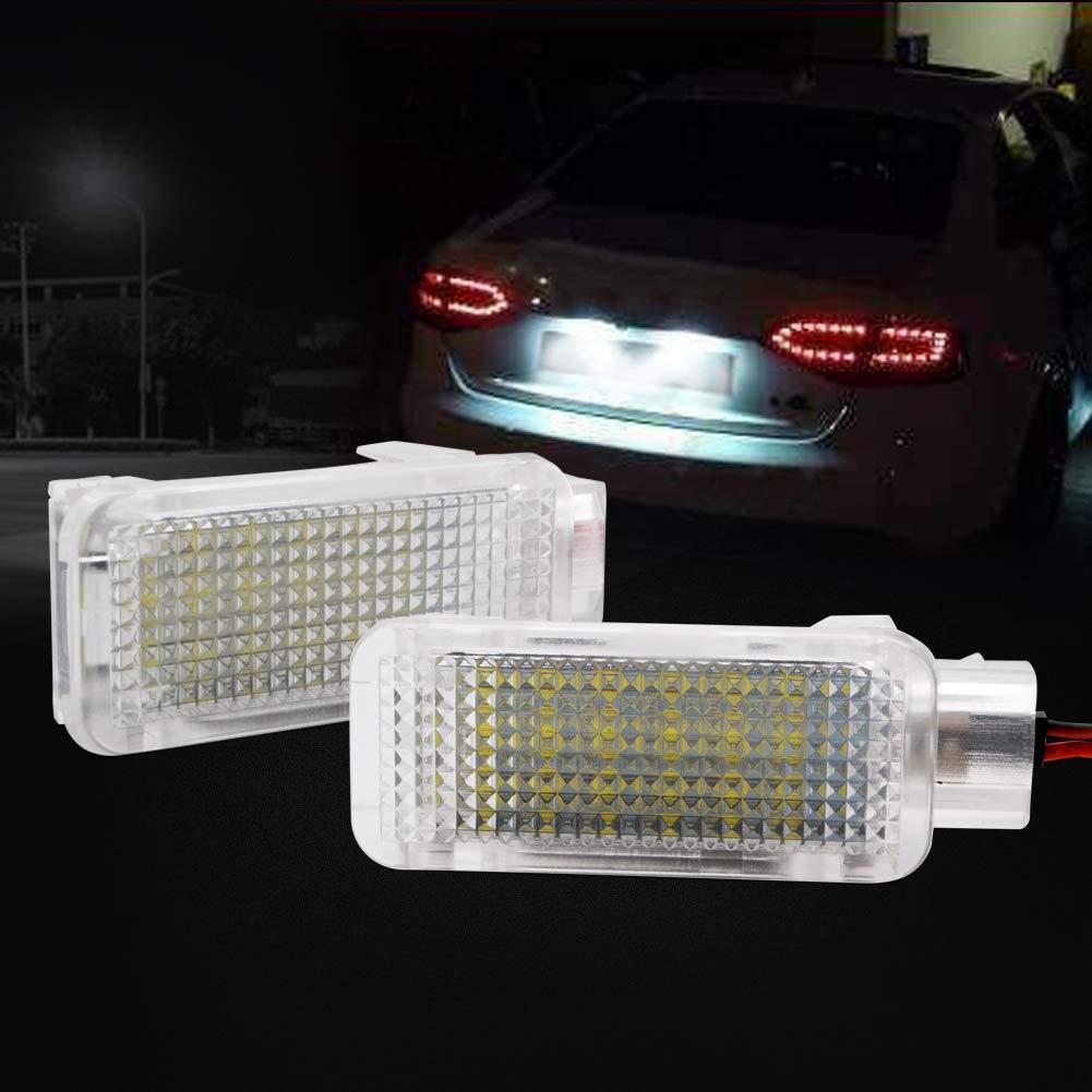 LncBoc 2pcs kennzeichenbeleuchtung f/ür A2 A3 A4 A5 A6 A7 A8 RS4 RS6 R8 TT//TTS 3W 12V 18 SMD LED Wei/ß Kennzeichenbeleuchtung hinten Direkter Ersatz 1 Jahr Garantie