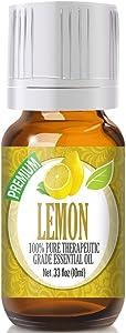 Healing Solutions Lemon Essential Oil - 100% Pure Therapeutic Grade Lemon Oil - 10ml