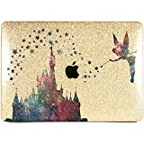 Lex Altern New Glitter MacBook Case Pro 15 inch Mac 15 12 Air 11 2018 Retina Cute Crystal Castle Cover Hard Sparkly Apple Gold Glossy 2017 2016 Disney Tinkerbell Laptop Girly Print Galaxy Stars 2015