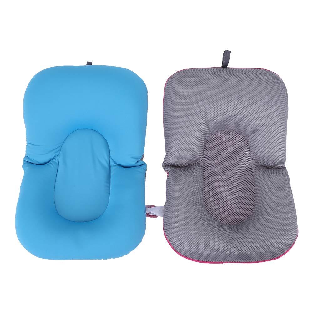 Baby schwimmende Kissen Neugeborenes Baby Kleinkind Kleinkind weichen Sitz Pad Badewanne Bad schwimmende Luftkissen Kissen Mat Blau