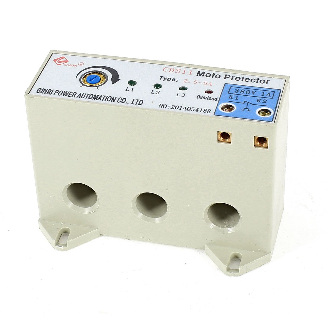 uxcell CDS-11 3 Phase 2.5-5 Ampere Adjustable Current Motor Circuit Protector AC24-380V