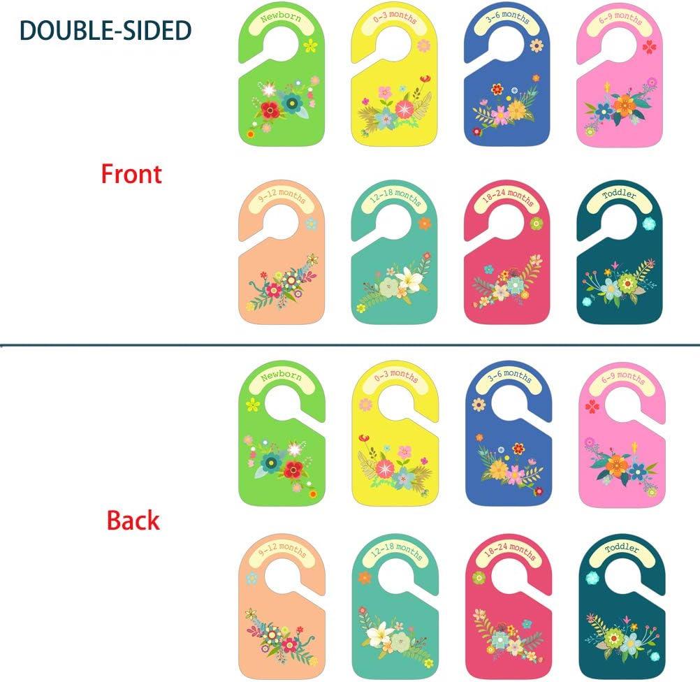 Baby Wardrobe Dividers 8 pcs Baby Closet Dividers Flowers Design Plastic Nursery Closet Dividers Closet Organisers//Hangers Dividers