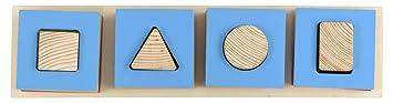 Skillofun Wooden Geo Cavity Shape Sorter, Multi Color
