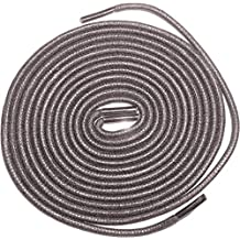 "Shoeslulu 20-47"" Premium Round Waxed Canvas Shoelaces Bootlaces"