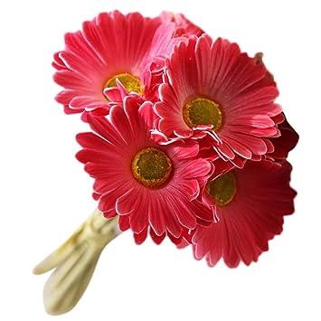 Amazon De Kunstliche Blumen Gerbera Fur Indoor Outdoor Home Garten