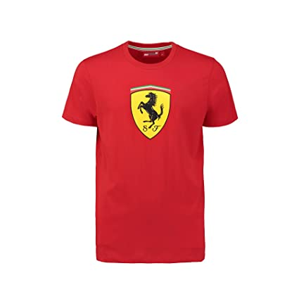 d26c0b93 Amazon.com: Ferrari Red Classic Shield Tee Shirt: Sports & Outdoors
