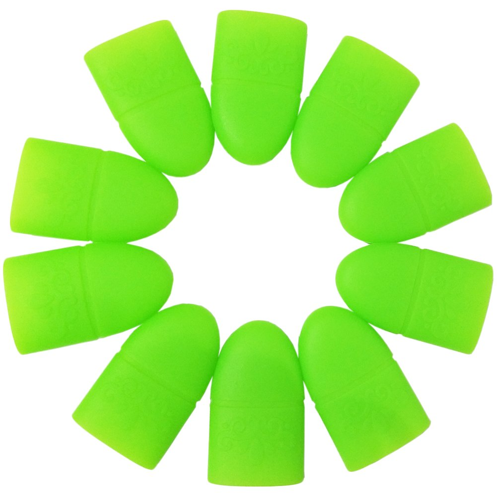 Coscelia Acrylic Nail Art Soak Off Clips Caps UV Gel Nail Polish Remover Wrap Tool, 10 Pieces (2)