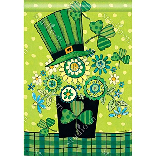 Blooming Irish St. Patrick's Day BreezeArt House Flag #91683